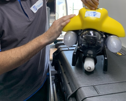 ROV with Cathodic Protection probe attached