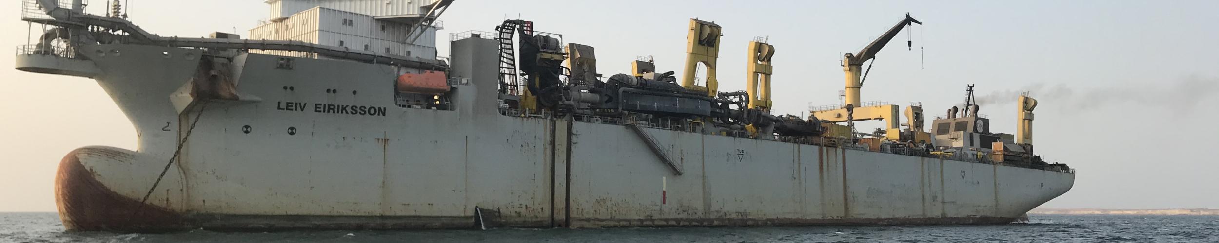 Cspect inspecteerde de scheepshuid van de grootste hopper ter wereld met hun ROVs