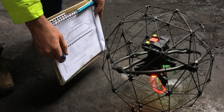 Drone inspection of confined spaces and complex environments